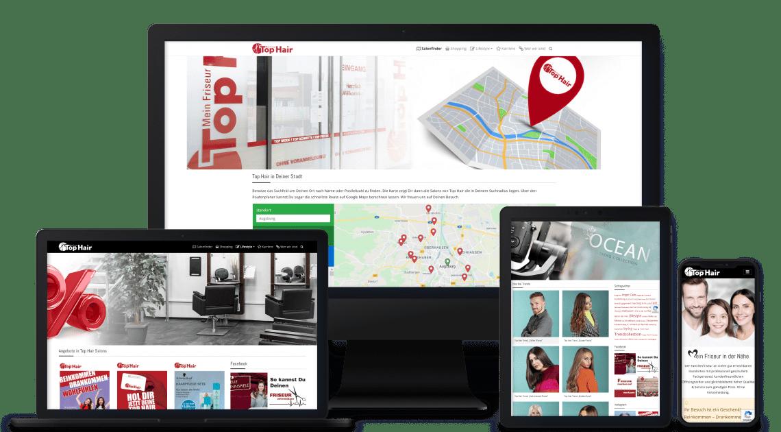 Device-Kollage mit Meinfriseur Webseiten Abbildungen